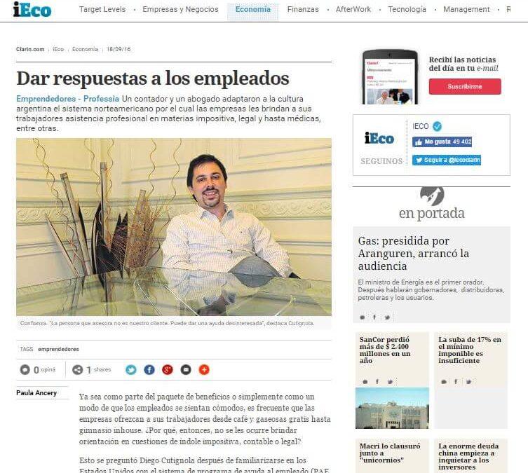 """IECO de Clarín nos hizo una nota sobre Professia: """"Dar respuestas a los empleados"""""""