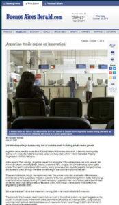 Articulo Buenos Aires Herald a Diego Cutignola