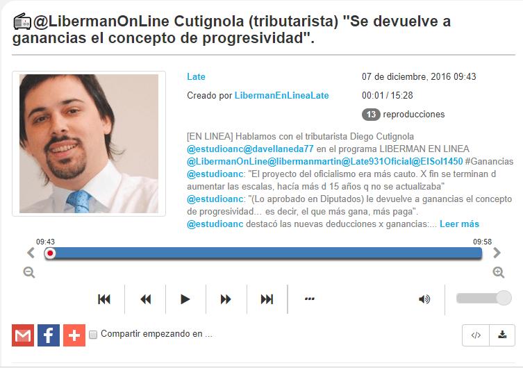 EL programa de Matías Liberman en línea nos entrevistó sobre el impuesto a las ganancias